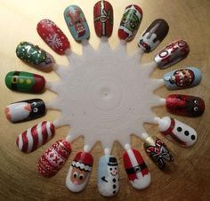 Christmas 2013 Nail Wheel by Georgia Hart Make Up & Nails