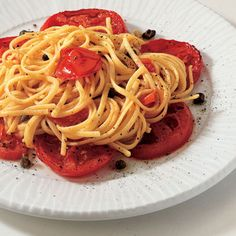 Recipe for Linguine With Roasted Tomatoes : La Cucina Italiana #tomatoes #italian