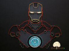 Iron Man String Art Avengers Iron Man Wandkunst Marvel et DC Comics Wohnkultur , Iron Man Marvel, Marvel Art, String Art Diy, Dc Comics, Avengers Comics, Arte Linear, String Art Templates, Thread Art, Pin Art