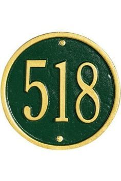 Petite Round Wall Address Plaque - one-line, Green by Home Decorators Collection. $59.00. Petite Round Wall Address Plaque - This Premium, Textured And Dimensional Wall Address Plaque Is Designed With Large Numbers For Maximum Visibility Outdoors. The Petite Round Wall Plaque Design Is A Simple Circle That Will Look Great On Your Mailbox Post Or Next To Your Entry.Our Outdoor House Marker Is Built To Withstand The Elements. It Is Individually Handcrafted Of Hand-...