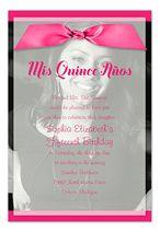 Royal Damask Quinceanera Invitation - Photos Purple Daughter ...