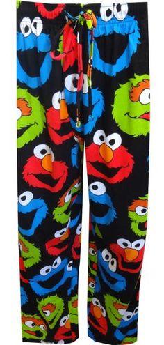 Sesame Street Elmo, Cookie Monster, Oscar Big and Tall Lounge Pant