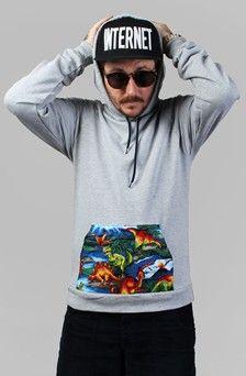 Apliiq.com presents the t rex pullover hoody $45.00