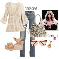 @Mary Riker 1970's, created by italianblonde on Polyvore