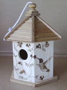 pictures of birdhouses | Heather Ward Wildlife Art: Birdhouse Pyrography