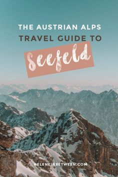 Guide to Seefeld, Austria - Need a weekend getaway ? How about the perfect combination of great outdoor activities, scenic views, city sightseeing AND incredible cuisine? I've found it right here in the heart of the Austrian Alps. Local Activities, Outdoor Activities, Places To Travel, Travel Destinations, Amazing Destinations, Travel Guides, Travel Tips, Cheap Weekend Getaways, Austria Travel