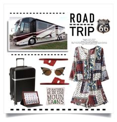 """""""Road Trip"""" by conch-lady ❤ liked on Polyvore featuring Hermès, Calvin Klein, Latico, Peking Handicraft, Dsquared2, Dot & Bo and roadtrip"""