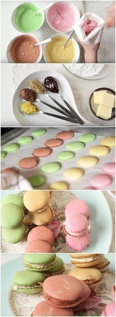 RECEITA FÁCIL DE Macaroons! (veja o passo a passo) #macaroons Dessert Recipes, Desserts, Panna Cotta, Sweets, Food And Drink, Cookies, Ethnic Recipes, Party, Ideas