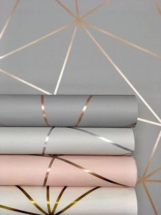 Metallic inspired wallpaper is one of the hottest trends for 2019.