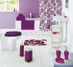 To complete your bathroom, decorate your shower with this Camelia Shower Curtain from #Argos.