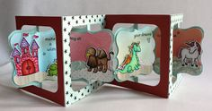 Fabulous combination of the Sizzix Accordion Album die, the Frame & Label, Bracket, and Lawn Fawn stamps. Alices {Little} Wonderland: Critters Ever After