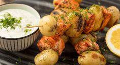 Nopeat ja helpot reseptit - TOKin 115-vuotis ruokahanke Potato Salad, Shrimp, Potatoes, Meat, Vegetables, Ethnic Recipes, Beef, Potato, Veggies
