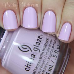 China Glaze IN A LILY BIT~Spring 2014~pale lilac nail polish