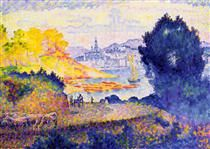 View of Menton - Henri-Edmond Cross