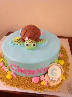 Squirt sea turtle cake
