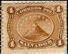 El Salvador - Volcano 1867