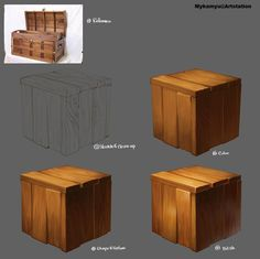 Clean Wood Painting Process, Minkyung Yu on ArtStation at http://www.artstation.com/artwork/clean-wood-painting-process