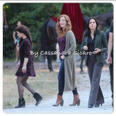 Lana, Rebecca, & Emilie on set (July 14, 2015)