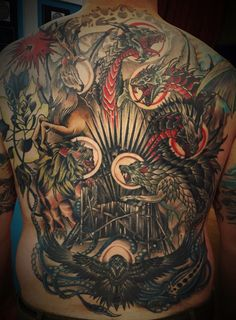 Crazy #GoT back #tattoo