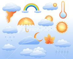 Weather Icons Vectors Stock Image