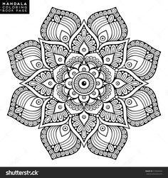 Imageshutterstock Z Stock Vector Flower Mandala Vintage