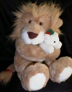 My favorite Christmas stuffed animal. The Lion and the Lamb, came the with the cartoon movie as well. #ChristmasMemories