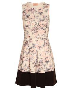 Cream Rose Print Contrast Panel Skater Dress £ 16.95 NOW  £ 10.00 #ChiaraFashion #BlissfulBabi #SS15 https://www.chiarafashion.co.uk/cream-rose-print-contrast-panel-skater-dress.html