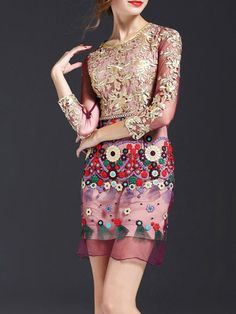 Floral Embroidered Mini Dress  -- Possibly my new favorite