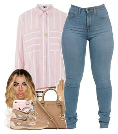 """""""No. 598"""" by dessboo ❤ liked on Polyvore featuring Topshop, NYX, Wet Seal, Michael Kors, Sperry Top-Sider and Accessorize"""