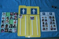Sort with pictures of people familiar to the student. Use classmates, friends, people in the community (church, camp, etc), relatives. Sort by male and female categories. Good to use all ages and ethnicity.
