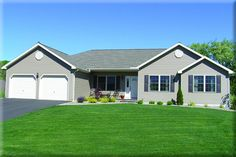 The Monterey in Huntingdon (Photo may include options or customization to the standard plan) Custom Home Builders, Custom Homes, Building Design, Building A House, Construction Drawings, Flex Room, Ranch House Plans, Model Homes, New Homes