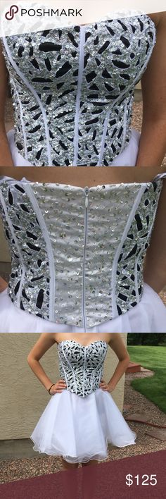 Lovely white corset dress Beautiful homecoming/prom dress. Only worn once; in great condition! Dresses Prom