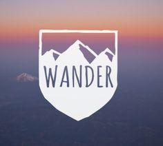 WANDER vinyl decal, outdoor vinyl sticker, outdoorsy gift, nalgene sticker, outdoor vinyl decal, adventure sticker