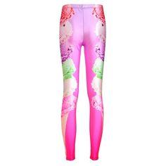 Hot sale women gym sport leggings brand running leggins 2016 3D print color ice cream jegging femme ankle length elastic pants Price: US $9.99 / piece