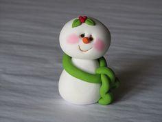 *POLYMER CLAY ~ Whimsical Christmas Snowman