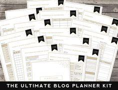Printable | Blog Planner Kit - DesignerBlogs.com