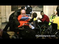 """Disabled protestors occupy parliament in #SaveILF protest.Sally Booth, who has MS, said the payment was the """"difference for most is us between getting out of bed in the morning, washing, getting dressed and given some food, and being parked in front of the television all day.  """"It's not much of a life. Before I got the ILF money I was hardly going out at all. It's house arrest."""""""