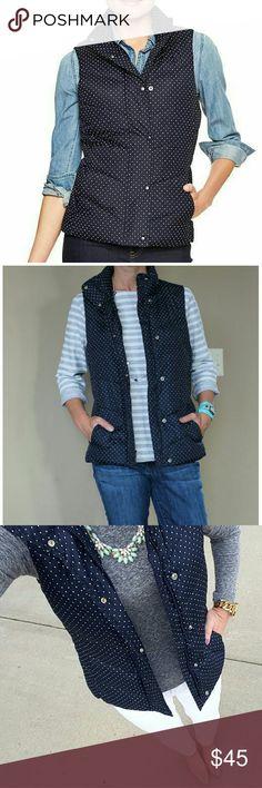 GAP Puffer Vest Navy blue and white polka dots GAP puffer vest with side pockets. GAP Jackets & Coats Vests