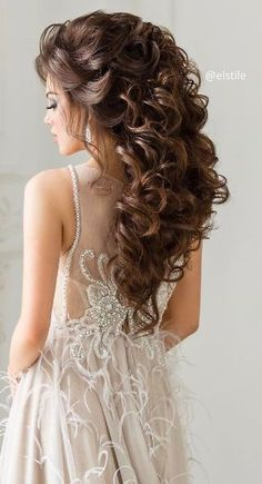 50 Attractive Wedding Hairstyles for Long Hair - hair ideas - Hochzeit Frisuren Wedding Hairstyles For Long Hair, Wedding Hair And Makeup, Formal Hairstyles, Cool Hairstyles, Hair Wedding, Quince Hairstyles, Hairstyle Wedding, Wedding Girl, Hairstyles Videos