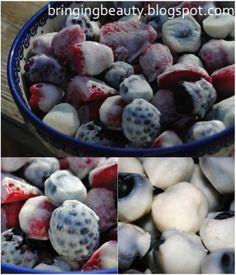 Bringing Beauty: Frozen Yogurt Berries