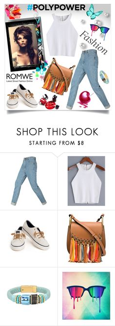 """""""Romwe contest"""" by almedina-86 ❤ liked on Polyvore featuring Sperry, Chloé and Chanel"""