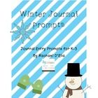 Winter-themed Journal prompts... print them out and put them in a cute jar or basket and have students choose one for a writing center, free time, or journal time!  Also great for those early finishers.