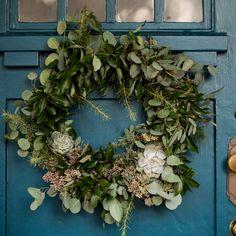 DIY Eucalyptus + Pine Wreath | Homemade Christmas wreath, Christmas DIY ideas and more from @cydconverse