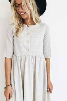 Clarice Button Dress | Nursing-Friendly Dress by ROOLEE