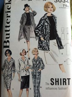 Butterick 3034 Vintage Sewing Pattern