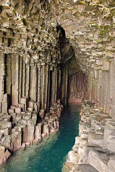 Fingal's Cave ~ Staffa, Scotland Romantic composer Felix Mendelssohn visited in 1829 and wrote an overture, The Hebrides, Op. also known as Fingal's Cave overture), inspired by the weird echoes in. Places Around The World, Oh The Places You'll Go, Places To Travel, Travel Destinations, Places To Visit, Around The Worlds, Travel Things, Travel Stuff, Fingal's Cave