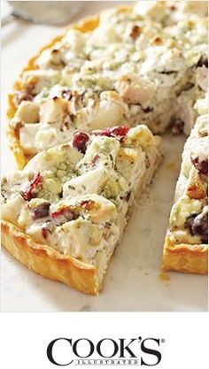 Rustic Turkey Tart ~ Ideas for turkey leftovers - Cooks Illustrated | Crate and Barrel...several great links in this pin.