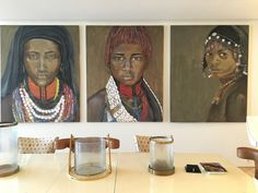 Oil on canvas part of interior decoration of house Triptych, African Women, Oil On Canvas, Interior Decorating, Decoration, House, Art, Decor, Art Background