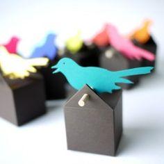 50 Oiseaux chantants - La dragée design: boites à dragées - dragées - faire-part