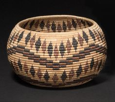 by Minnie Mike | Mono Lake Paiute polychrome basket